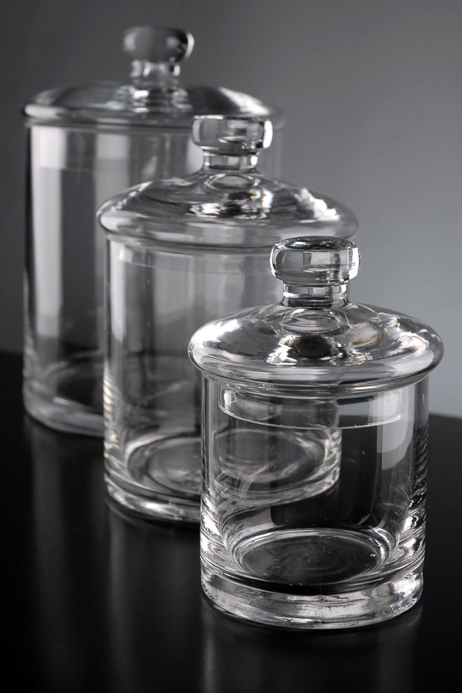 Bathroom Canisters Clear Glass Canister Jars Set Of 3 28 For Bathroom Vanity