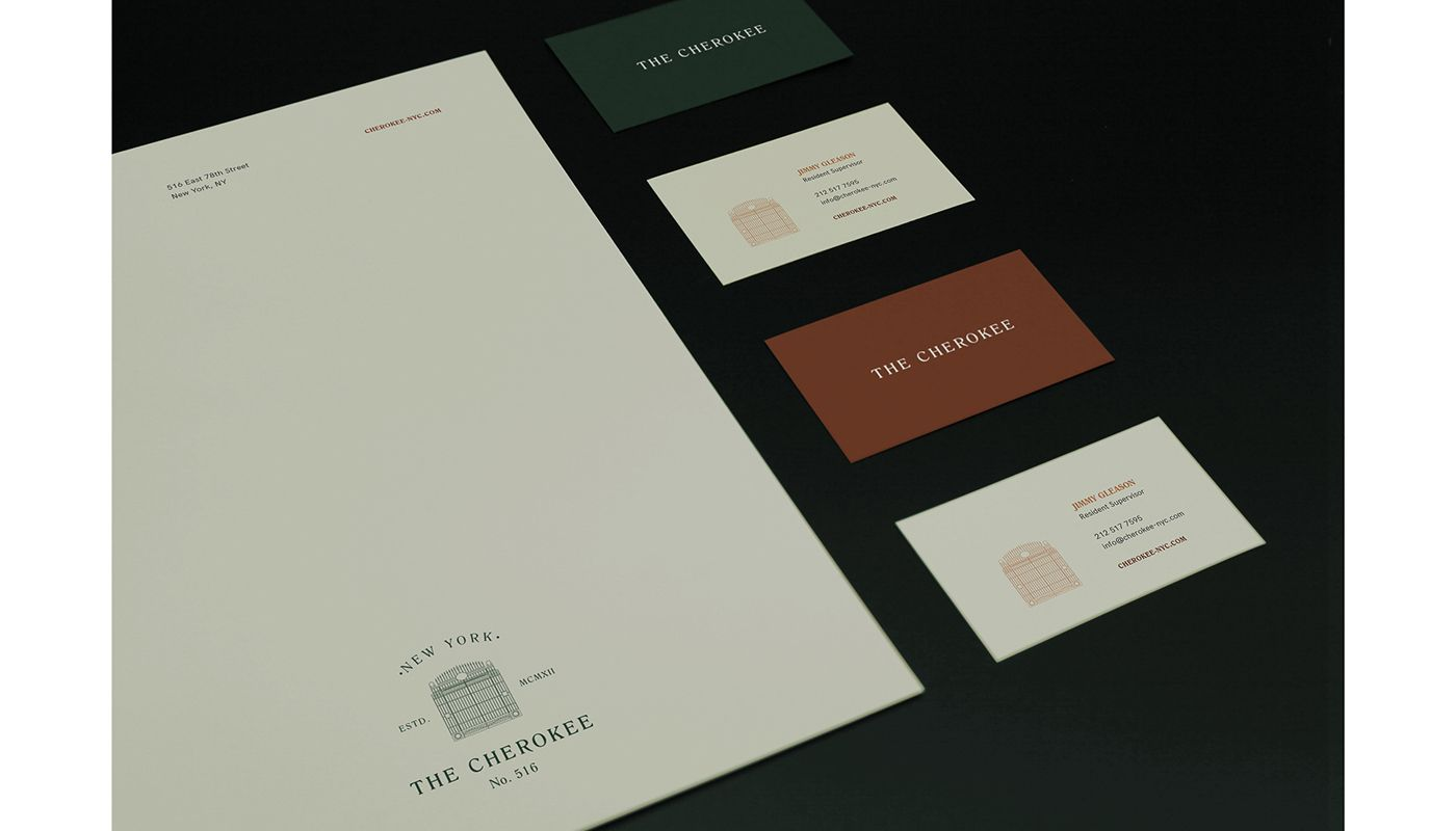 The cherokee new york ny on behance print form card business cards the cherokee new york ny on behance reheart Image collections
