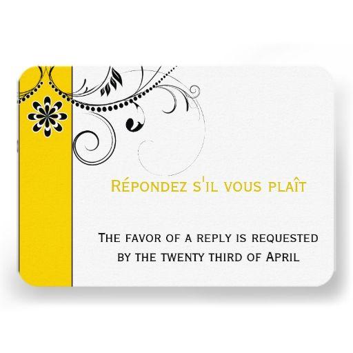 Modern Swirl Filigree Wedding RSVP Cards