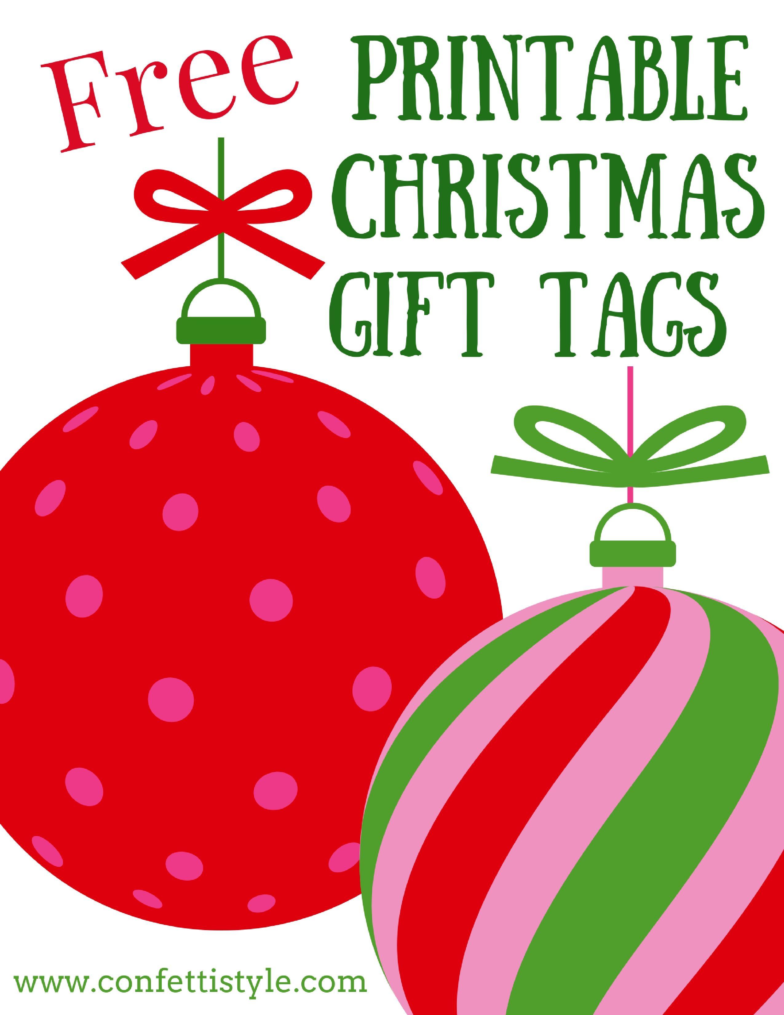 Free Printable Merry & Bright Gift Tags   Free printable christmas ...