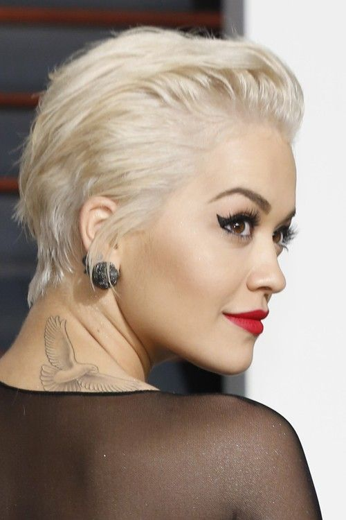 Rita Ora Hair Steal Her Style Page 2 Short Slicked Back Hair Short Hair Styles Super Short Hair