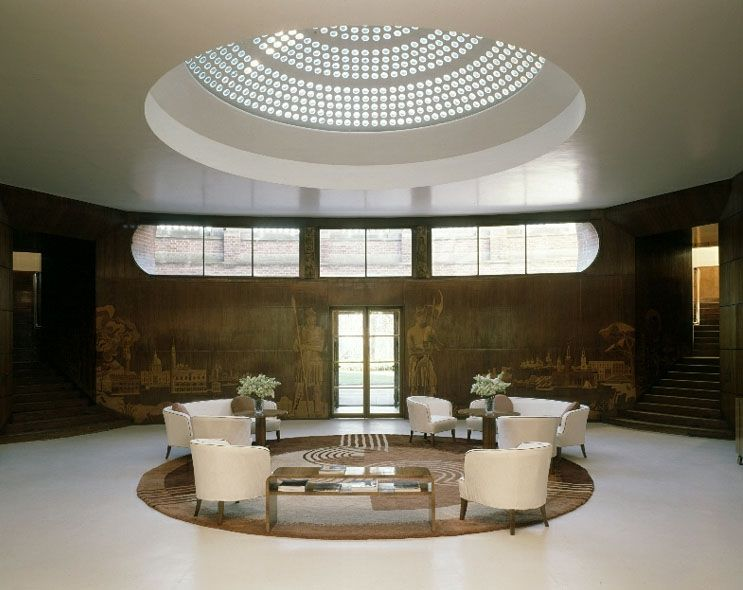 art deco entrance hall at eltham palace south london built by the