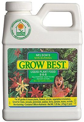 Grow Best 8 8 8 Liquid Plant Food Nutrients For Plants Fertilizer Free Shipp Plant Food Fertilizer For Plants Pond Plants