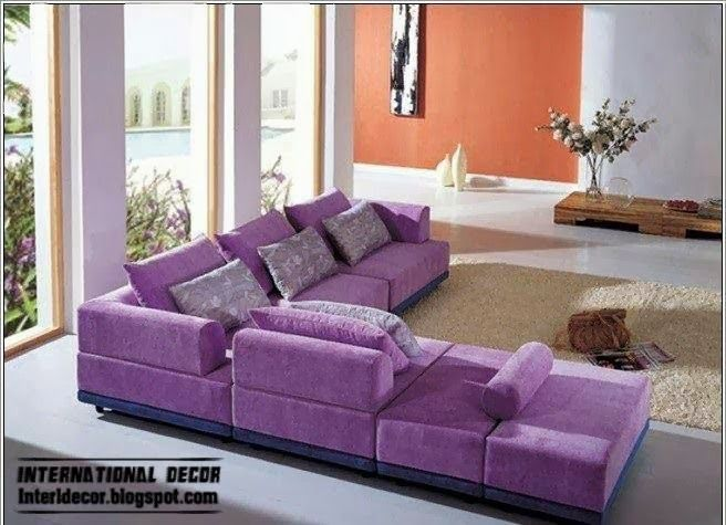 purple furniture | purple living room furniture, purple corner ...