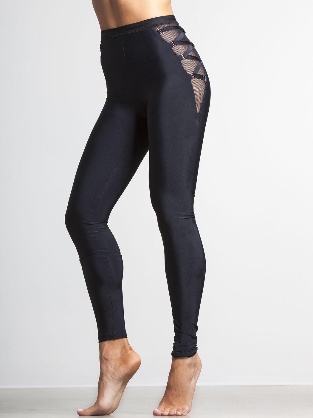 Active Life Womens Size Medium Cross Strap Yoga Activewear Leggings Pant Black