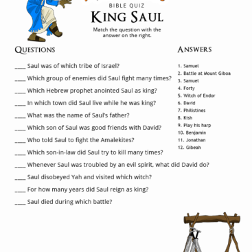 100 Free Bible Quizzes For Kids Printable Bible Activities