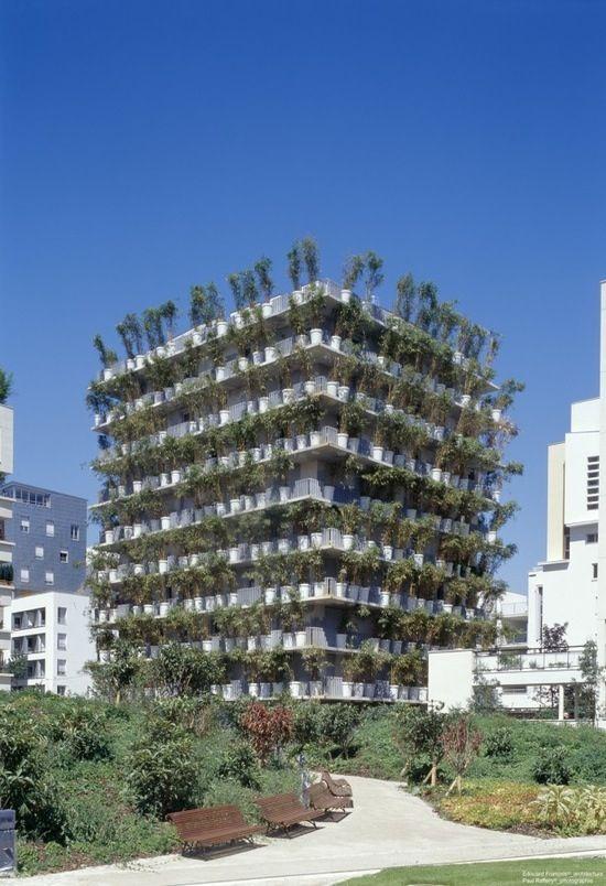 Mediante el uso de material verde en la arquitectura se logra un cambio constante de color, apariencia y movimiento.