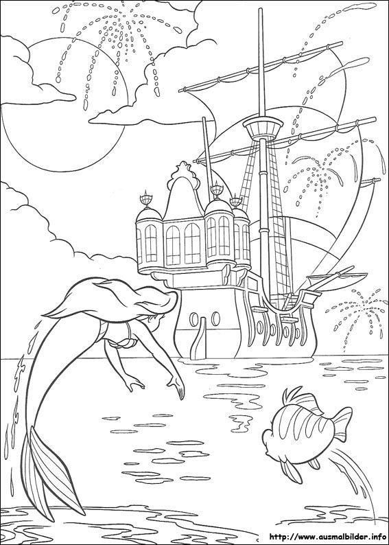 Arielle, die Meerjungfrau malvorlagen | Ausmalbilder | Pinterest