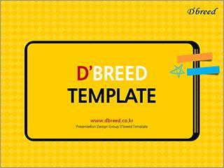 옐로우 컬러의 귀여운 템플릿  Presentation Template  Pinterest  레이 ...