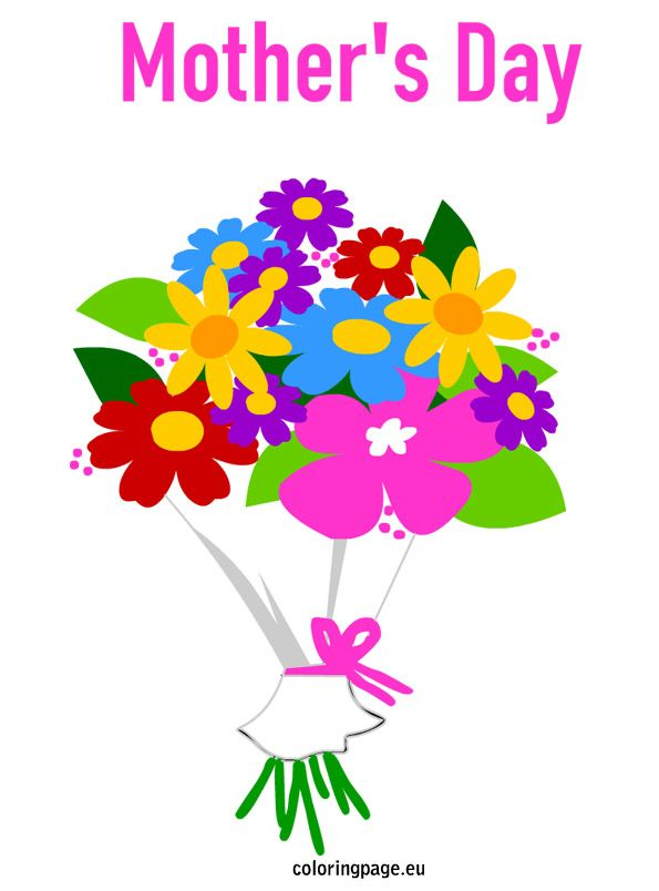 Mother S Day Bouquet Flowers Flower Coloring Pages Mother S Day Bouquet Flowers Bouquet