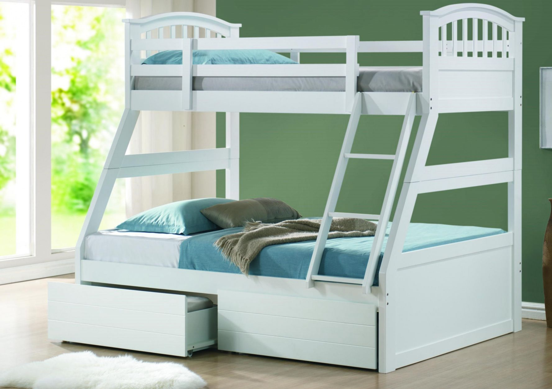 Double loft bed with stairs   Childrens Double Bunk Beds  Simple Interior Design for Bedroom