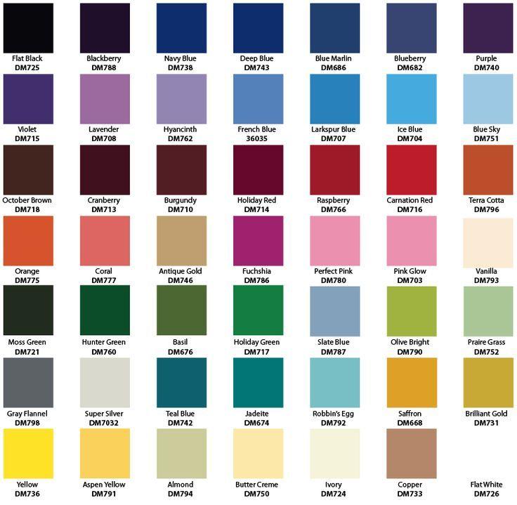 Image result for rustoleum enamel spray paint color chart Paint - sample general color chart