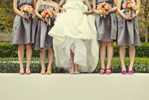 Grey Bridesmaid Dress What Shoes
