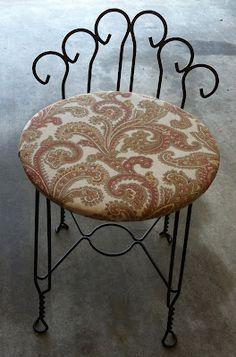 Image Result For Images Of Vintage Vanity Chair DIY