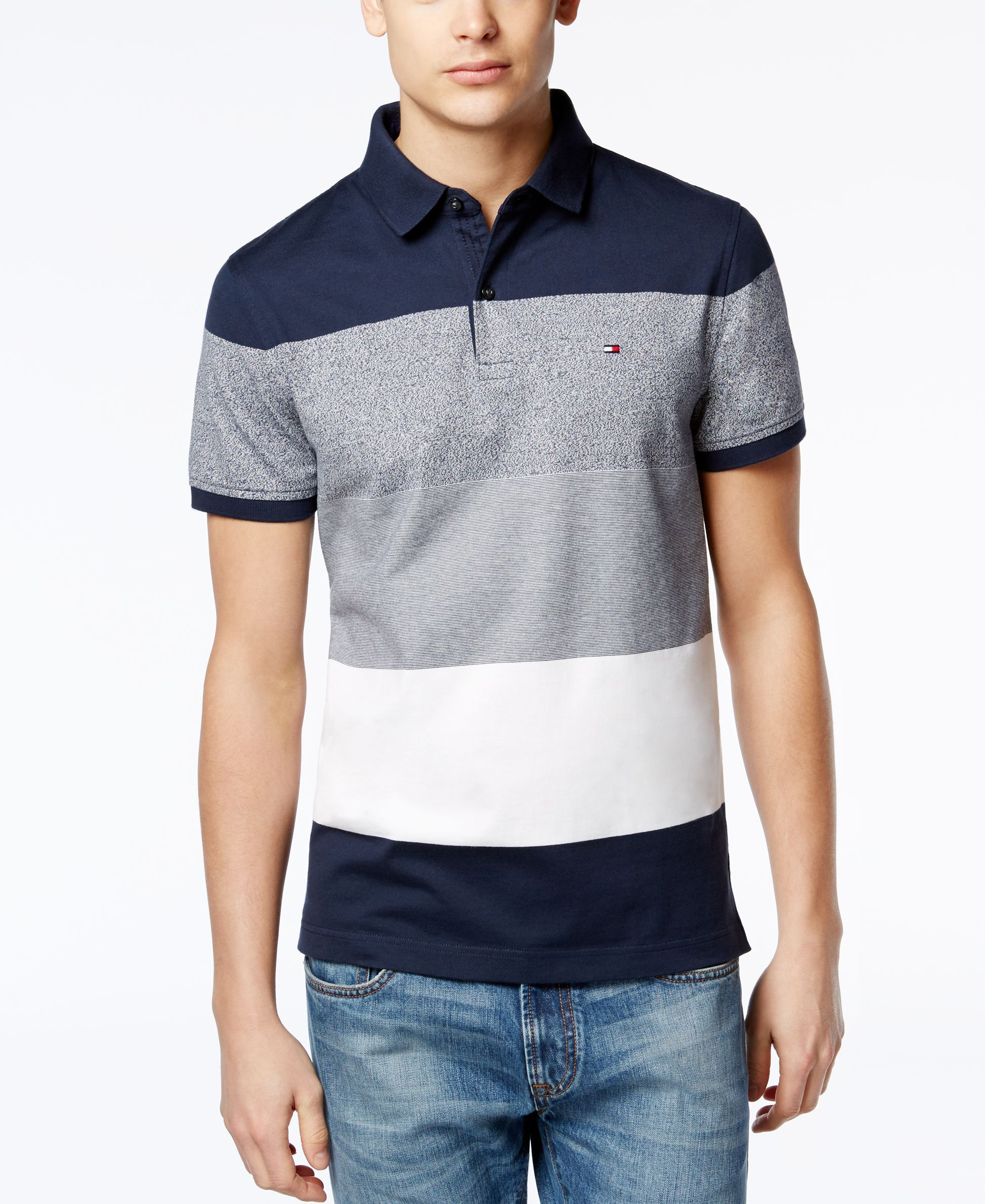 37199740 Tommy Hilfiger Outlet, Tommy Hilfiger Shirts, Polo Shirt Style, Striped  Polo Shirt,