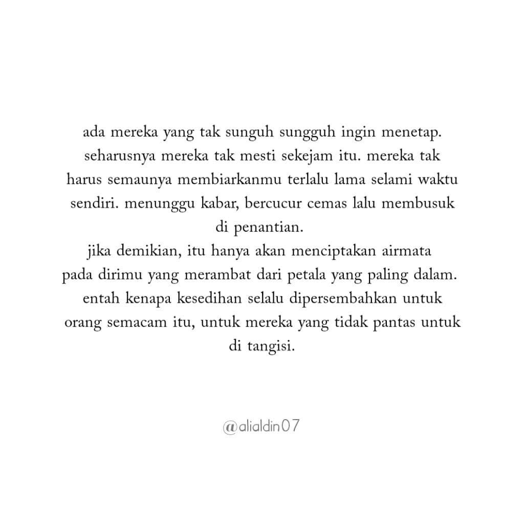 Ali Aldin Di Instagram Galau Quotes Baper Cinta Dagelan