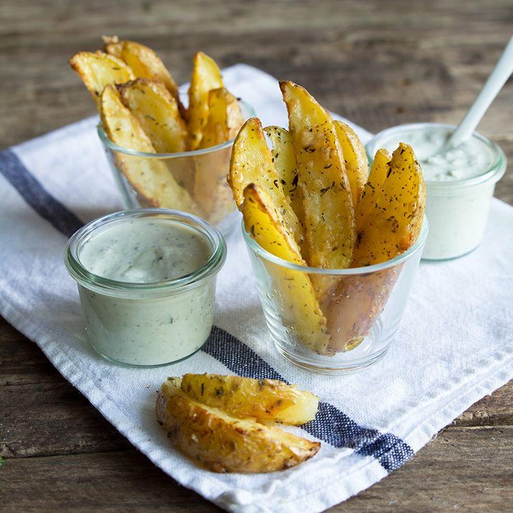 Kartoffelecken im Knoblauch-Parmesan-Mantel #kartoffeleckenbackofen