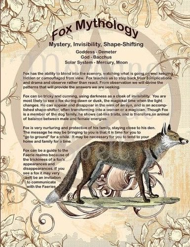 Pin By Celia Fox On Book Of Shadows Sisters Of The Crescent Moon Coven Animal Spirit Guides Spirit Animal Fox Spirit Animal Meaning
