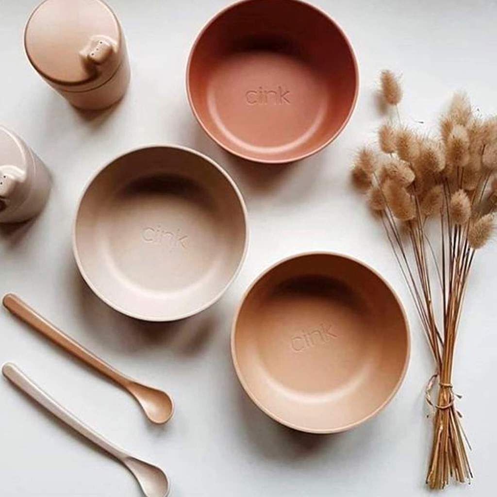 Kids Organic Bamboo Bowl Set Of 3 In 2020 Kids Dinnerware Kids Tableware Organic Bamboo