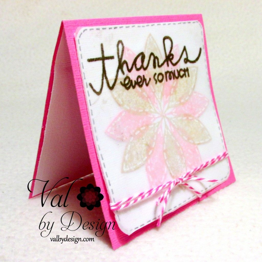 Thank You Card with Paper Smooches - ValByDesign