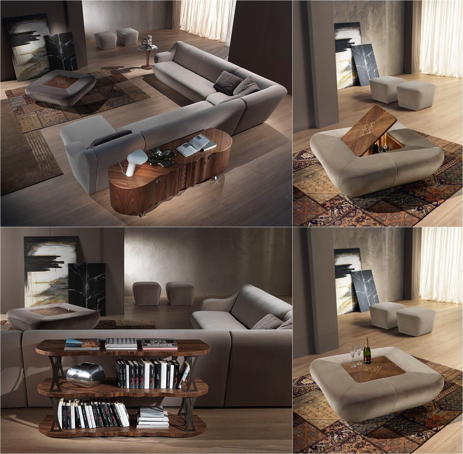 MORFEO modular sofa u0026 coffee table pouf Carpanelli