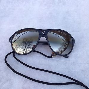 9000cd32039 Vintage Very Rare Vuarnet Skilynx 4085 Sunglasses Black France W Vuarnet  Lanyard