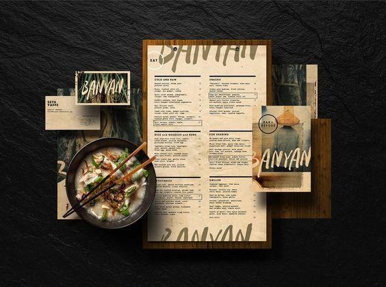 Kết quả hình ảnh cho Thiết kế menu phong cách retro