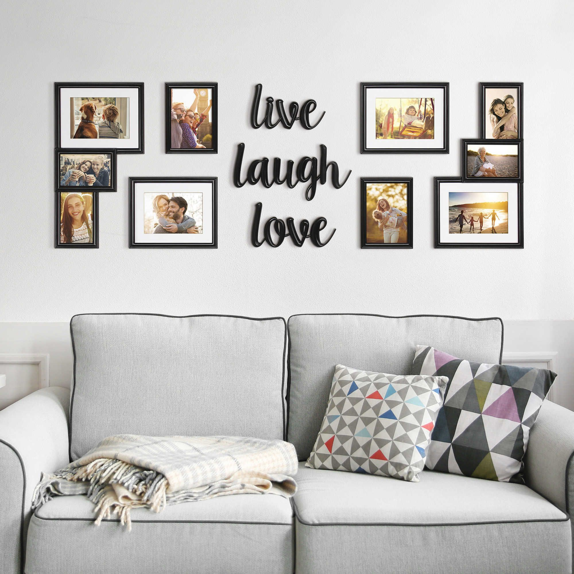 Wallverbs Reg 9 Piece Live Love Laugh Photo Frame Set Family Wall Decor Wall Decor Design Room Decor