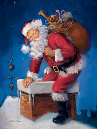 Image result for santa coming down the chimney