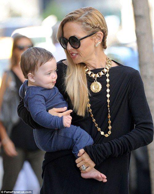 Rachel Zoe and her son