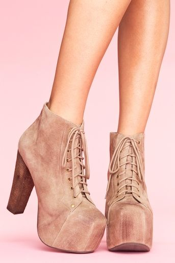 taupe platform boots