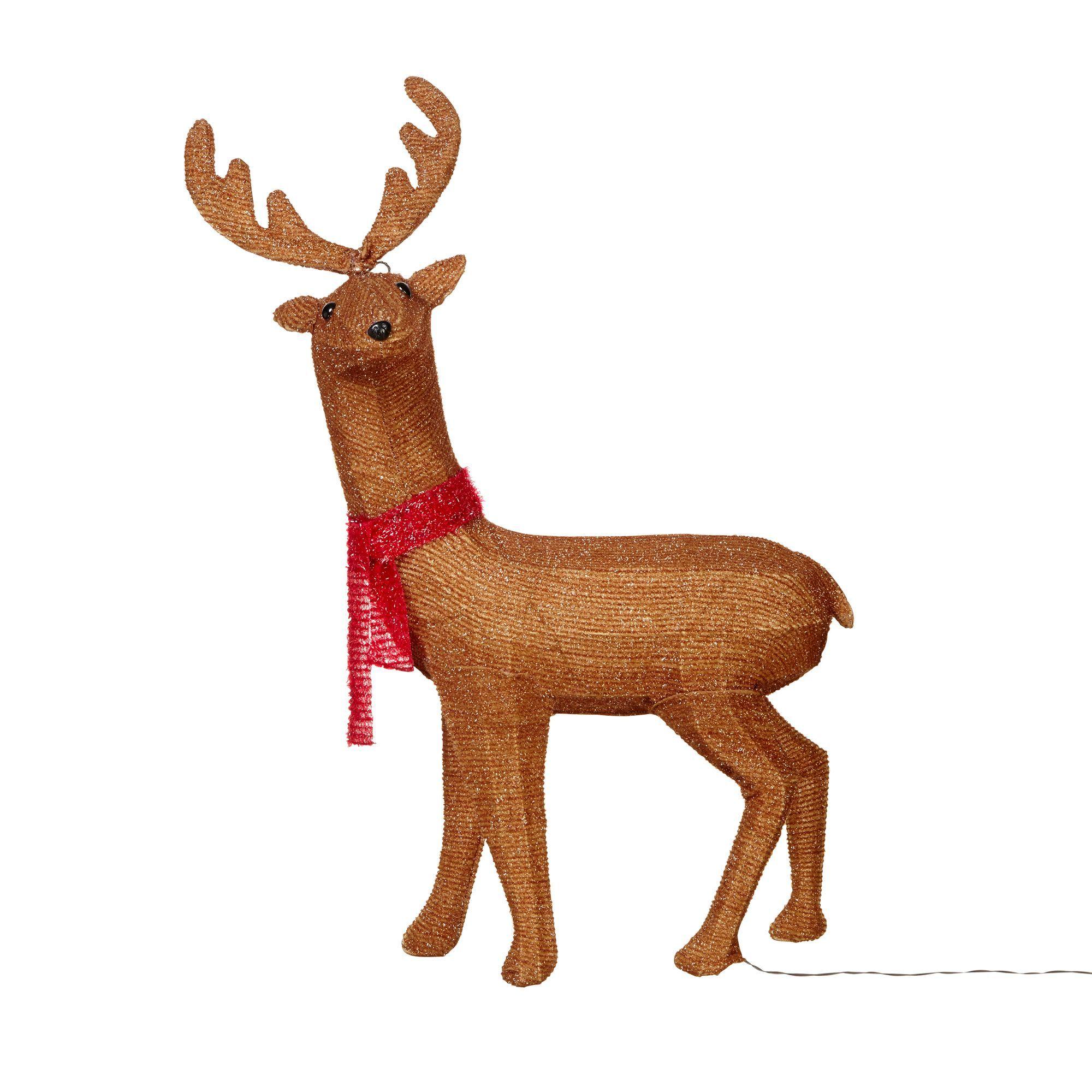 Brown Soft Glow Freestanding Reindeer Silhouette | Departments ...