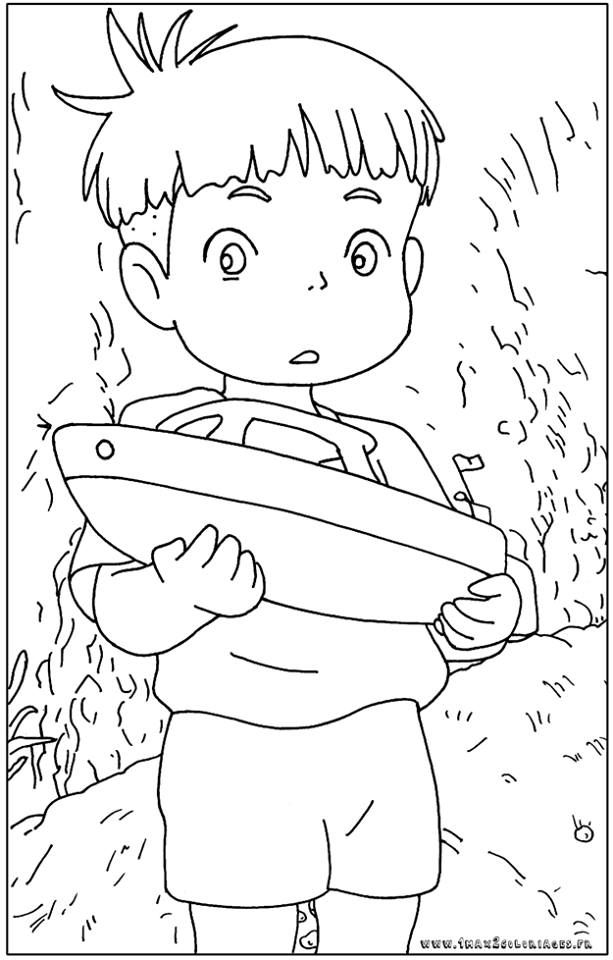 Free Ponyo Coloring Pages, Download Free Clip Art, Free Clip Art ... | 960x613