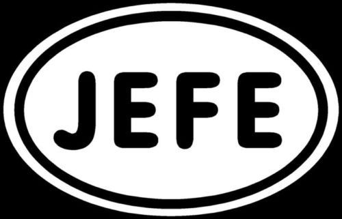 Jefe sticker spanish boss head leader car window decal die cut vinyl decal for windows cars