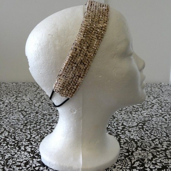 Beaded Beauty Headband-Champagne  from Brady Bands $10 and 10% of all sales go to childhood cancer research