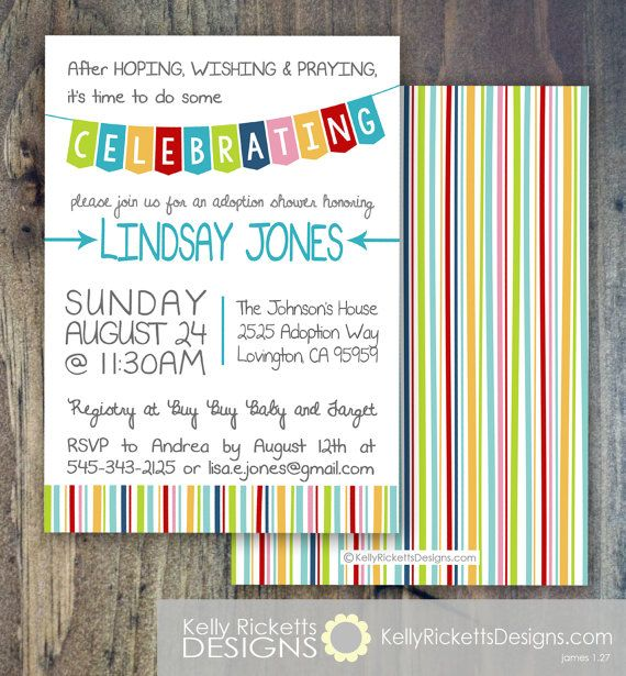 Adoption Invitation Adoption Shower Adoption Finalization Party