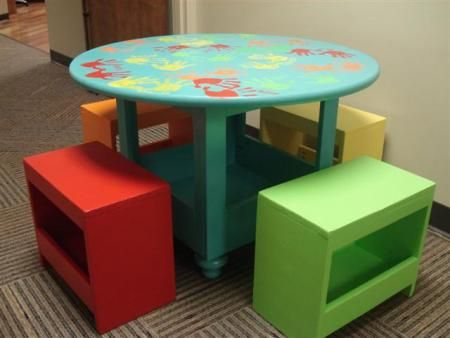 Kid Table Stools Do It Yourself Home Projects From Ana