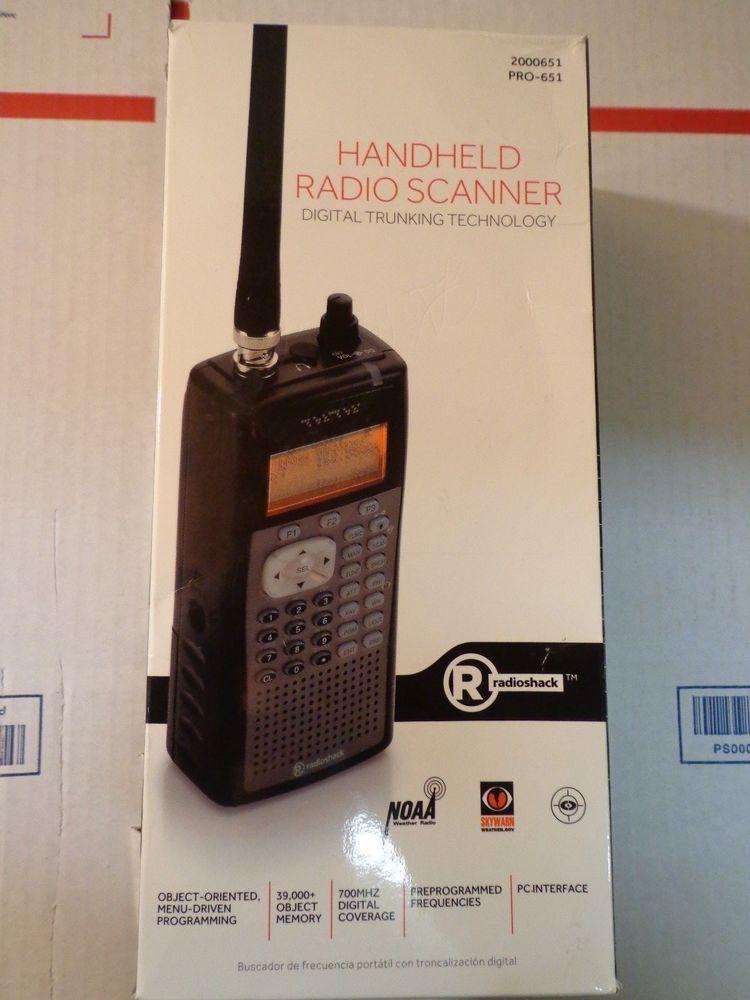 RadioShack HandHeld Radio Police Scanner digital trunked