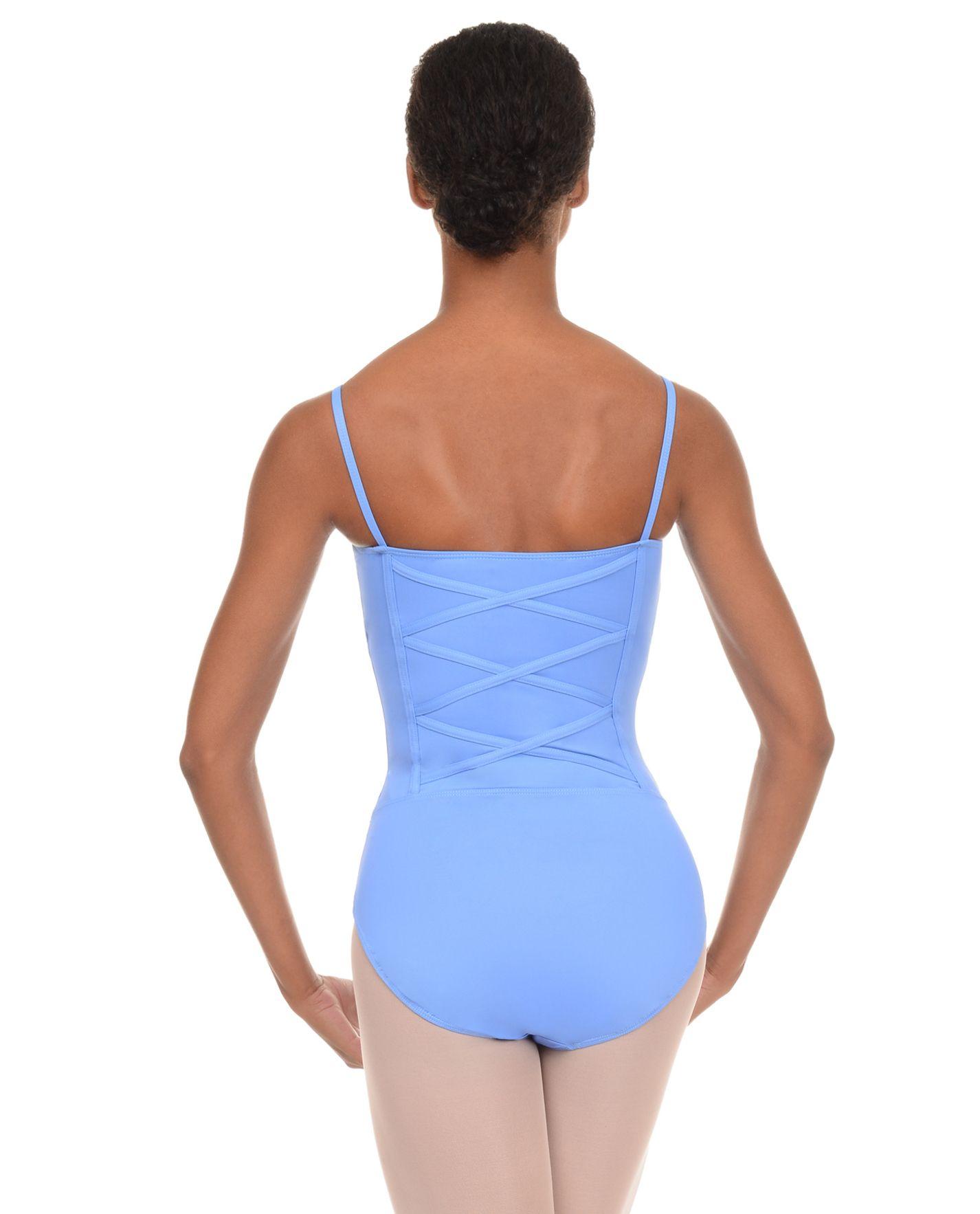 Danskin Womens New York City Ballet Short Sleeve Open Back Leotard