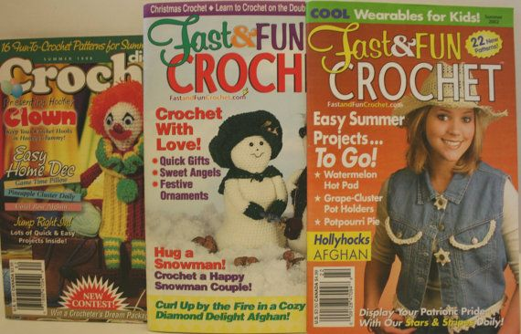 Crochet Patterns, Fast and Fun Crochet Leaflets, Crochet Digest, Christmas Crochet Patterns, Home Decor and Baby Crochet, Hats, Afghans