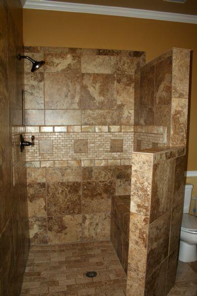 Doorless Walk In Shower Ideas Google Search Bathroom Remodel Shower Shower Remodel Small Bathroom With Shower