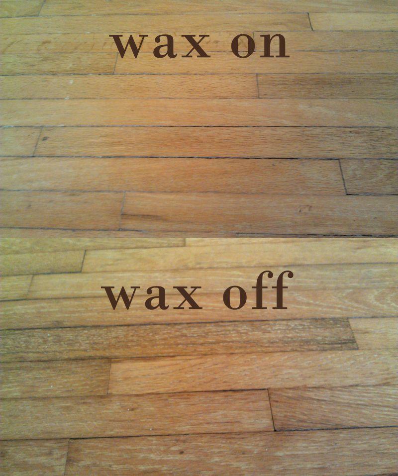 Diy floor refinishing day one removing wax hardwood