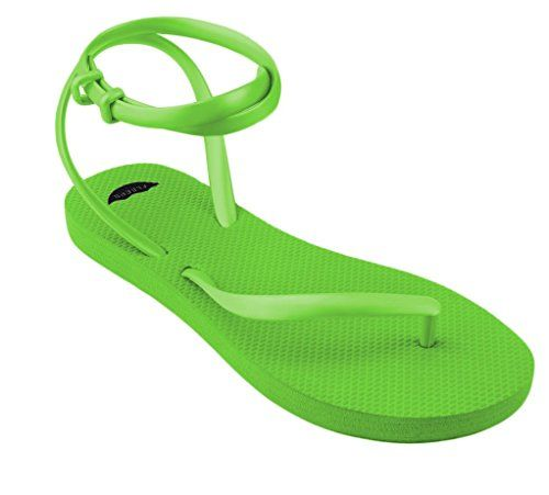 c5085fd7bc58 FLEEPS Womens Lime Green Sandals 10   You can get additional details at the  image link.
