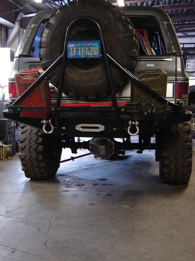 Rear Winch Bumpers With Tire Carriers Blazen Offroad 4x4