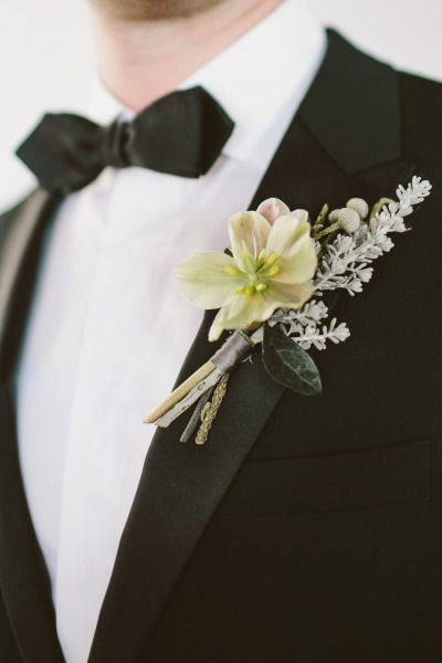 Winter boutonniere: http://www.stylemepretty.com/little-black-book-blog/2014/10/20/cozy-winter-wedding-at-liberty-warehouse/ | Photography: Tory Williams - http://weddings.torywilliams.com/