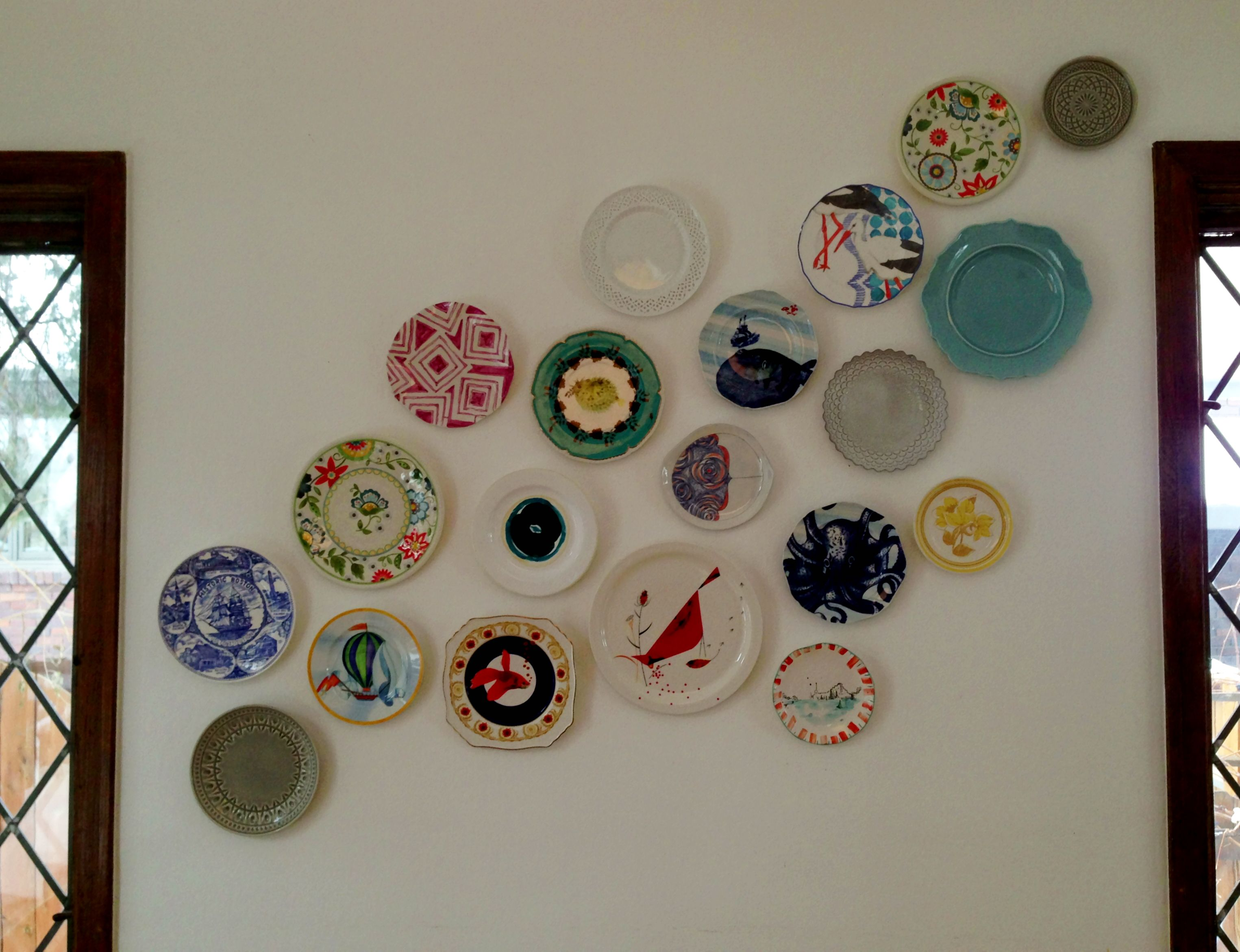 Plate Wall Anthropologie Collection Plates On Wall Plate Wall