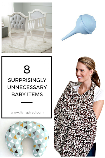 8 surprisingly unnecessary baby items! Trying to figure out what you need and what is just unnecessary?! Here are my top 8 items I thought I would need but never used. #babyitems #pregnancy #newmom #momlife #parenting #family