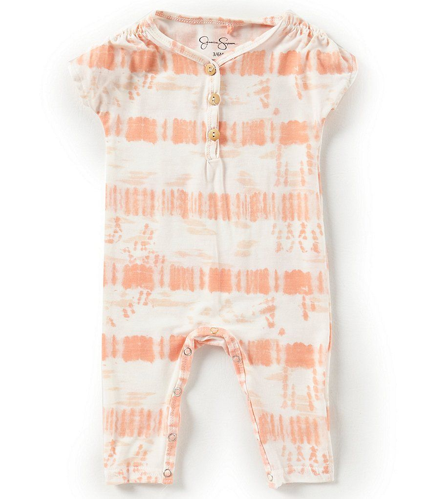 a9187f62a3d3 Jessica Simpson Baby Girls Newborn-9 Months Tie-Dye Coverall Twin Outfits,  Toddler