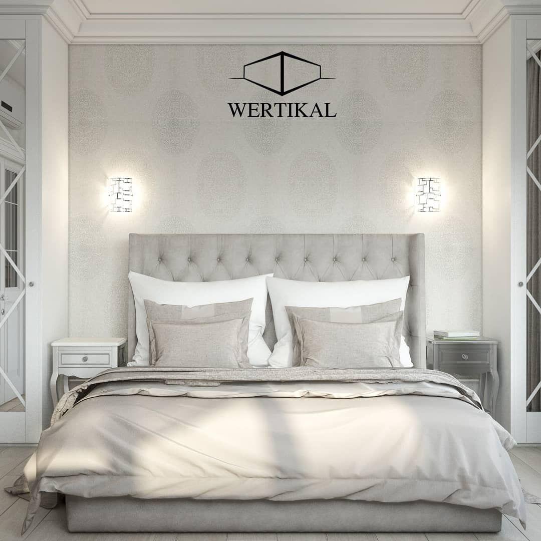 Großes komfortables stilvolles Schlafzimmer im klassischen ...