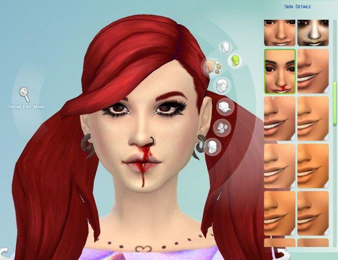 Nosebleed Skin Overlay at Jingleriot's Sims via Sims 4 Updates